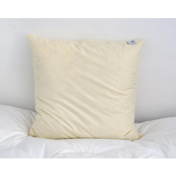 LUXIPLUME - Oreiller Naturel 90% Plumettes, 10% duvet de canard neuf - Medium 60X60cm - Couleur nature