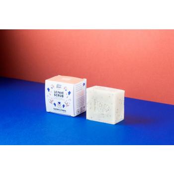 Savon saponifié à froid certifié BIO - Le Pavé Scrub par ATELIER POPULAIRE - 90g