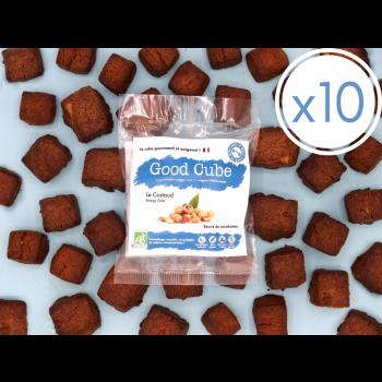 """x10 Sablés au beurre de cacahuètes """"Le Costaud"""" BIO - 20x 35g"""
