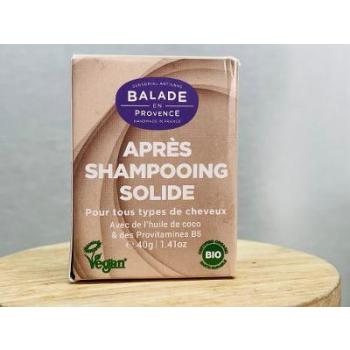 Après-Shampoing Bio Solide Tous Types de Cheveux - 40 g