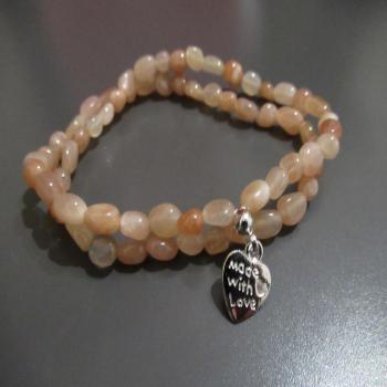 Bracelet 2 rangs en pierre de soleil