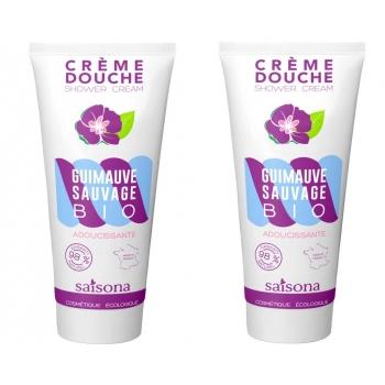 2 X Crème douche naturelle Adoucissante à l'extrait de Guimauve Sauvage BIO - Saisona - 2 X 200 ml