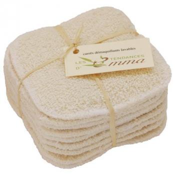 Carrés démaquillants lavables bi-face Coton/molleton
