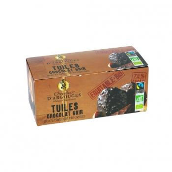 Les Chevaliers d'Argouges - Tuiles chocolat noir Bio 120g
