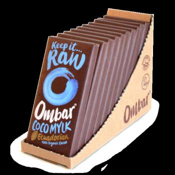 Lot de 9+1Chocolats Crus à la Crème de Coco 35g Bio - Ombar