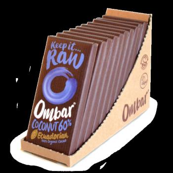 Lot de 9+1 Chocolats Crus Noir-Coco 35g Bio - Ombar