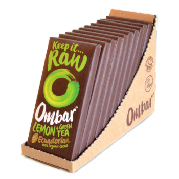 Lot de 9+1 Chocolats Crus Citron & Thé Vert 35g Bio - Ombar