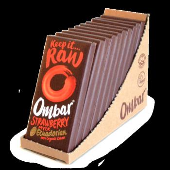 Lot de 9+1 Chocolats Crus Fraise et Crème de Coco 35g Bio - Ombar