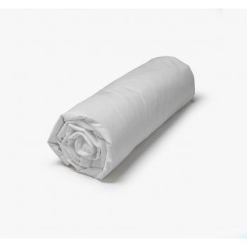 Drap Housse percale coton 71 fils 90/200 gris perle