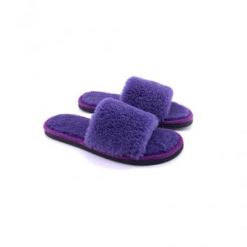 Sandales violettes en peau de mouton