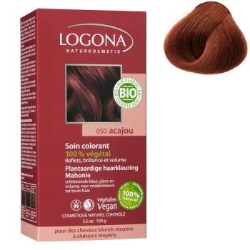 Soin colorant Bio 100 % Végétal - Acajou - 100 gr - Logona