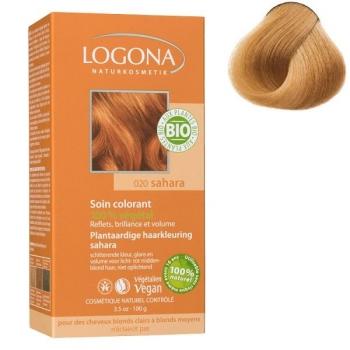 Soin colorant Bio 100 % Végétal - Sahara - 100 gr - Logona