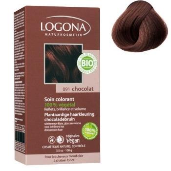 Soin colorant Bio 100 % végétal  - Chocolat - 100 gr - Logona