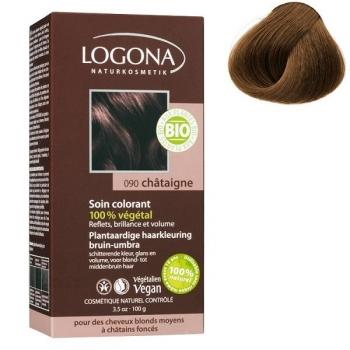 Soin colorant Bio 100 % Végétal - Marron - 100 gr - Logona