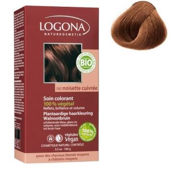 Soin colorant Bio 100 % Végétal - Noisette cuivrée - 100 gr - Logona