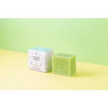 Savon saponifié à froid certifié BIO - Le Pavé Tonique par ATELIER POPULAIRE - 90g