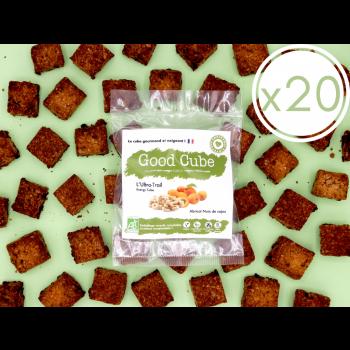 """x20 Biscuits gourmands aux abricots et noix de cajou """"L'Ultra-Trail"""" BIO - boost d'énergie - 20x 35g"""
