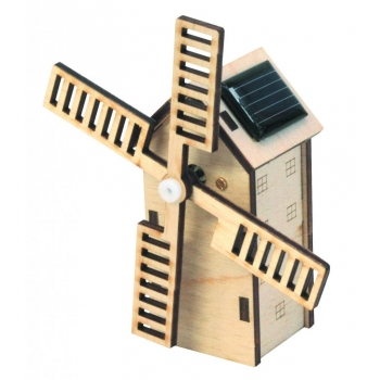 Maquette Mini Moulin Hollandais solaire en bois