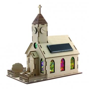 Maquette Eglise solaire en bois