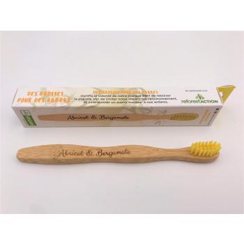 Brosse à dent en bambou - Jaune (enfant)