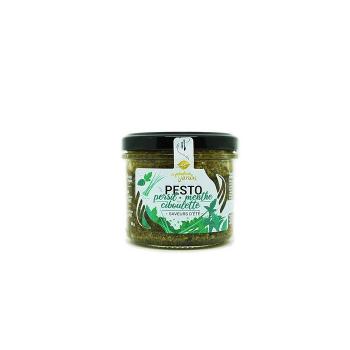 Pesto Persil, Menthe, Ciboulette Bio 90g Le Fabuleux Jardin