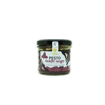 Pesto Basilic Rouge Bio 90g Le Fabuleux Jardin