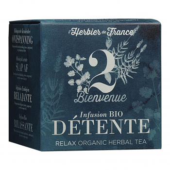 Infusion Bienvenue - Détente - 15 mousselines bio - L'Herbier de France