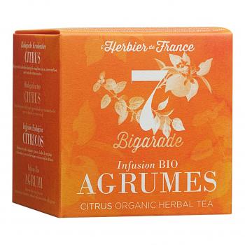 Infusion Bigarade - Agrumes - 15 mousselines bio - L'Herbier de France