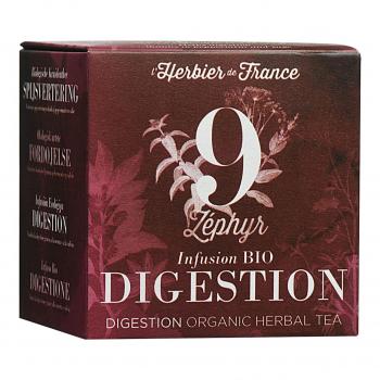 Infusion Zéphyr - Digestion - 15 mousselines bio - L'Herbier de France