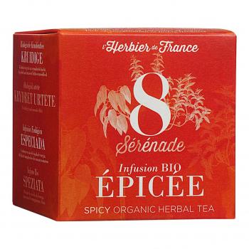Infusion Sérénade - Epicée - 15 mousselines bio - L'Herbier de France