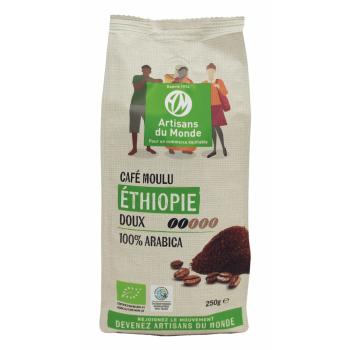 Café moulu biologique d'Ethiopie