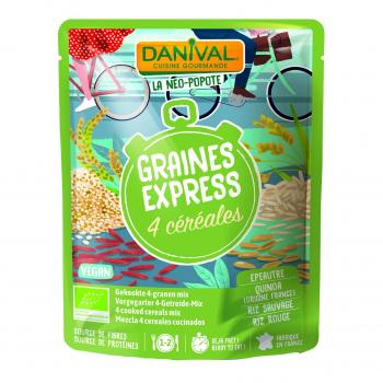 DANIVAL - 4 céréales (épeautre, quinoa, riz sauvage et riz rouge) 250g
