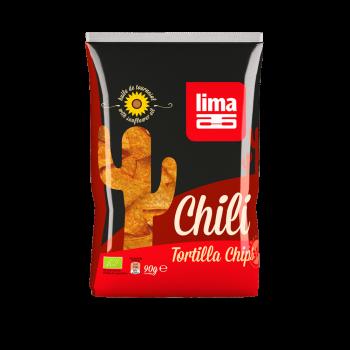 Tortilla chips chili 90g (sans huile de palme) LIMA