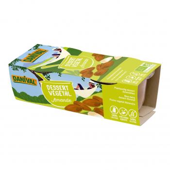 Dessert végétal amande 2x100g bio - Danival