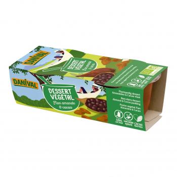 Dessert végétal flan amande-cacao 2x100g bio - Danival
