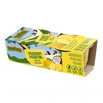 Dessert végétal coco-citron 2x100g bio - Danival