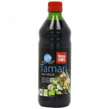 Bio tamari 250ml, less salt 25% de sel en moins LIMA