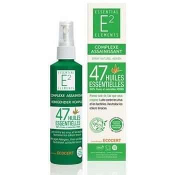 E2 Spray Assainissant aux 47 huiles essentielles 100% naturelles (200ml) - bactéricide, fongicide, contre les odeurs tenaces...