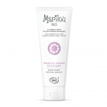 Masque Visage Purifiant à l'Argile Verte 75ml bio - Marilou Bio