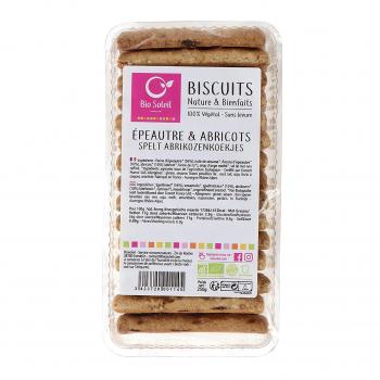 Biscuits épeautre-abricot 250g bio - Biosoleil