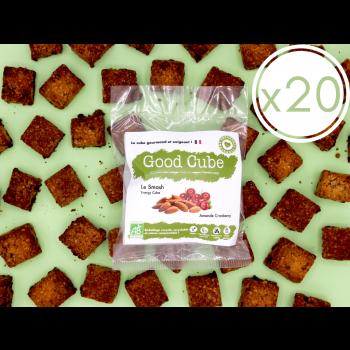 """x20 Biscuits aux amandes et cranberries """" Le Smash"""" BIO - boost d'énergie - 20x 35g"""