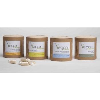 Calcium / Multi vitamines / 3 Acides Aminés / Pré&Probiotique Vegan -240 gélules - Argalys