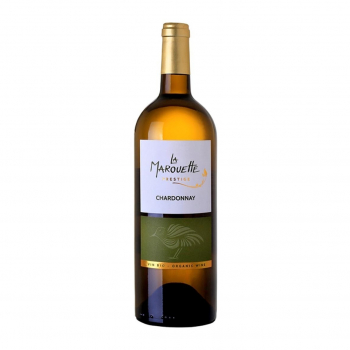 Vin blanc Chardonnay Prestige  - La Marouette - IGP Pays d'Oc 75cl bio - La Marouette