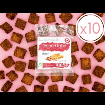 """x10 Biscuits croustillants aux abricots et amandes """"L'Euphorie"""" BIO - 10x 35g"""