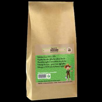 Biochar charbon d'herbe kraft 1kg