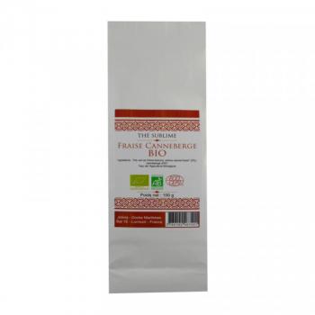 Thé Vert fraise Canneberge Bio - 100 g