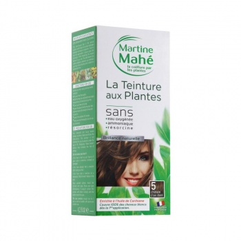Teinture n°5 Châtain Clair Doré 125ml - Martine Mahé