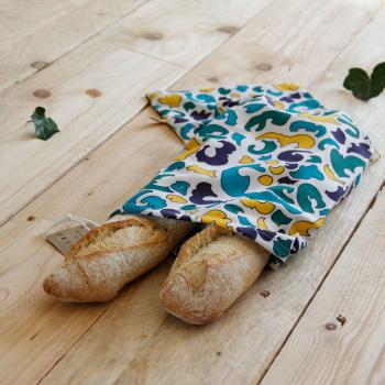 Sac à pain en tissu upcyclé
