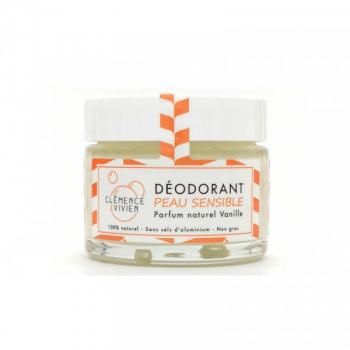 Déodorant naturel Vanille peau sensible - Clémence & Vivien