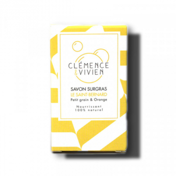 Savon surgras le Saint Bernard - Petit grain et orange - 100 g